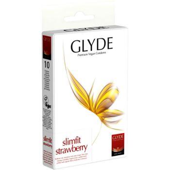 Glyde Premium Vegan Condooms Slimfit Strawberry 10st