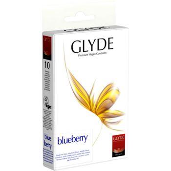 Glyde Premium Vegan Condooms Blueberry 10st