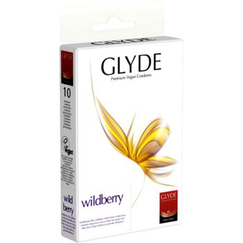 Glyde Premium Vegan Condooms  Wildberry 10st