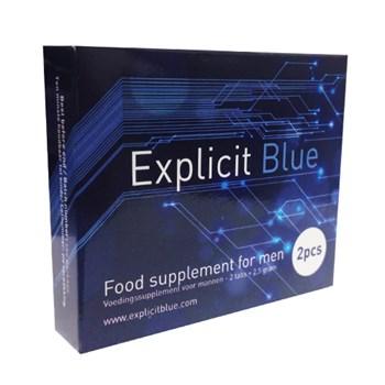 Explicit Blue Erectiepil 2 tabs