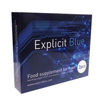 Explicit Blue Erectiepil 2 tabs