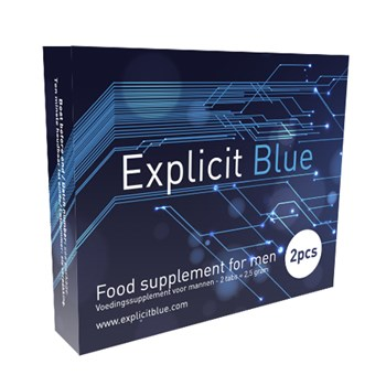 Explicit Blue Erectiepil 4 tabs