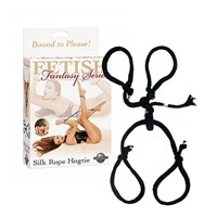 Pipedream Silk Rope Hogtie (Zwart)