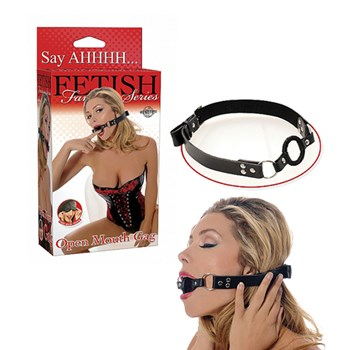 Pipedream Open Mouth Gag (Zwart)