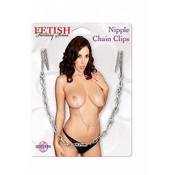 Pipedream Nipple Chain Clips (Lichtgrijs)