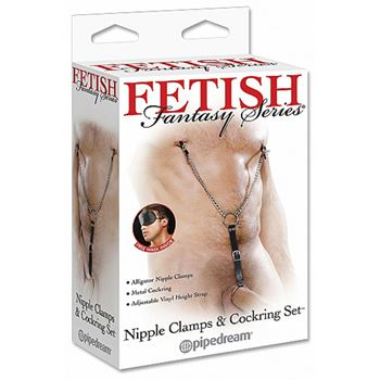 Pipedream Nipple Clamps & Cockring Set