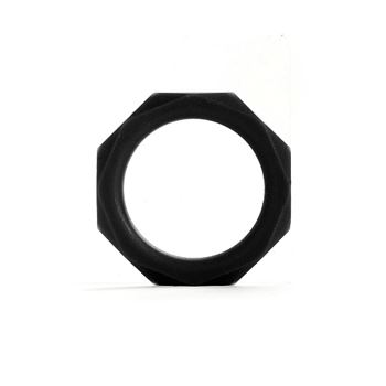 Shots Octagon Ring Large (Zwart)