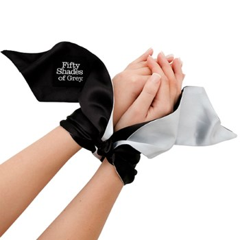Fifty Shades of Grey Satin Restraint Wrist Tie (Lichtgrijs)