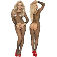 Roxana Fishnet Catsuit with Open Crotch