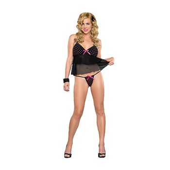 Magic Silk Babydoll and G-String Dotted