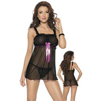 Roxana Babydoll and String Dotted