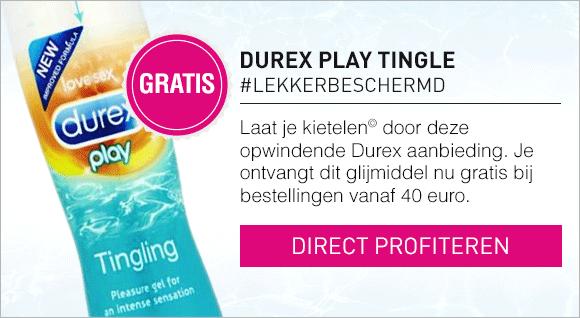 Gratis Durex Tingle bij bestellingen vanaf 40 euro