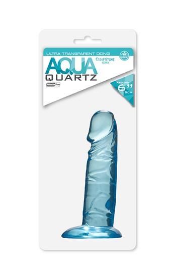 Quartz dildo 15 cm blauw