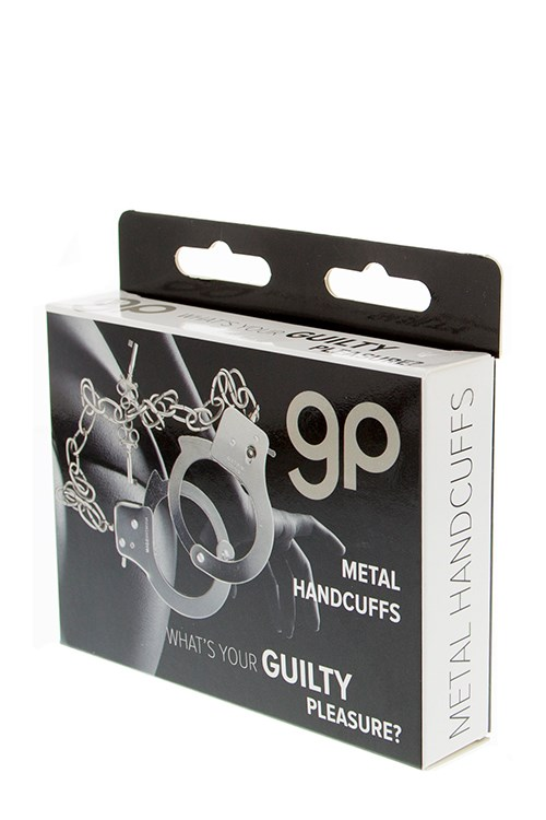 Guilty Pleasure metalen handboeien lange ketting