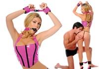 Pink passie bondage set