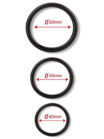Setje van 3 silicone ringen
