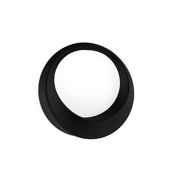 Zwarte siliconen cockring