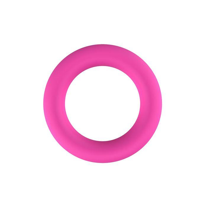 Roze siliconen cockring