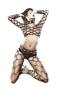 2-delige diamant bodystocking