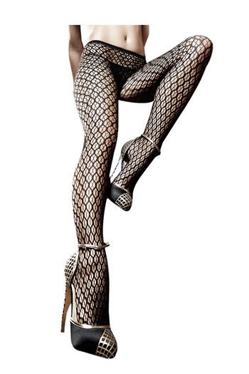 Panty met jacquard ruitenpatroon
