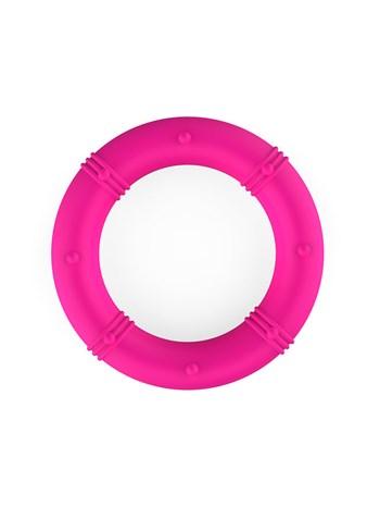 Roze cockring met ribbels