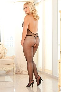 Visnet halter bodystocking