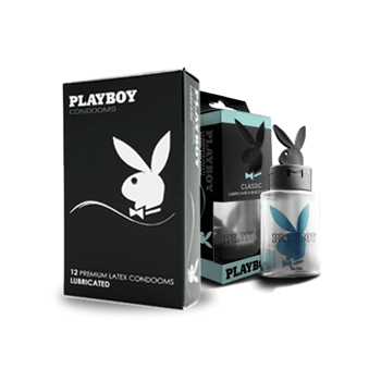 Playboy Standaard Condooms (12st) + Glijmiddel Classic