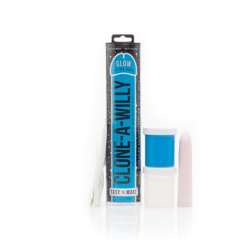 Clone-A-Willy Glow-In-The-Dark Blue