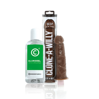 Clone A Willy Vibrator (Deep Skin Tone) + Condoomfabriek Glijmiddel Verzorgend