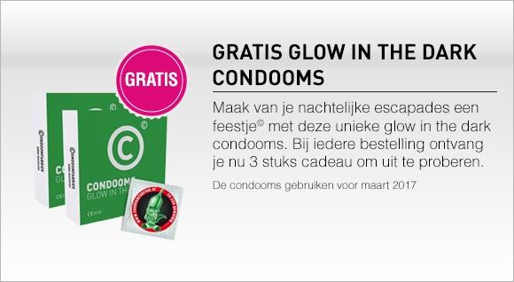 3 gratis glow in the dark condooms