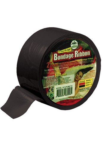 Brede Bondage lint (Zwart)
