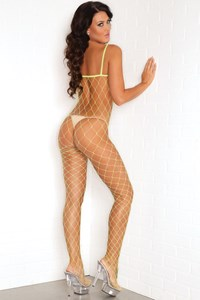 Diamant net bodystocking (diverse) (Groen)