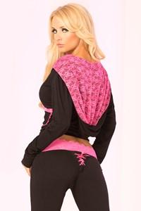 Luxe vest (zwart/roze) (S)
