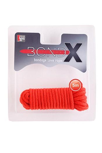 BondX liefdes touw (5 m) (Rood)