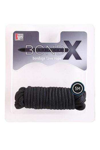 BondX liefdes touw (5 m) (Zwart)