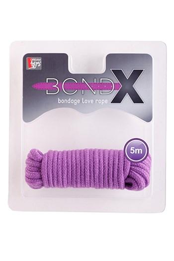 BondX liefdes touw (5 m) (Paars)