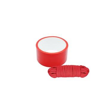 Bondage lint en touw (Rood)