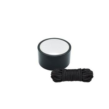 Bondage lint en touw (Zwart)