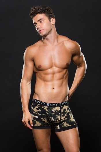 Groene camouflage boxer