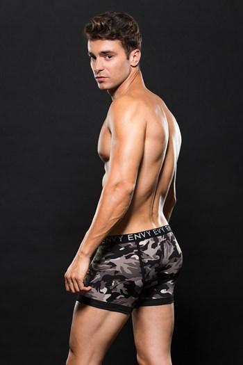 Grijze camouflage boxer