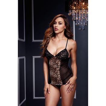 Zwart luipaard jurkje