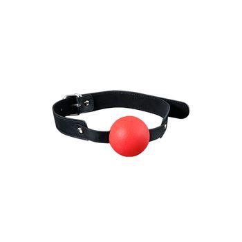 Siliconen ball gag (Rood)
