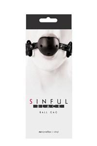 Sinful ball gag (Zwart)