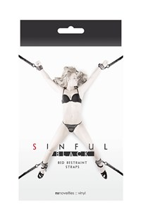 Sinful bed riemen set (Zwart)