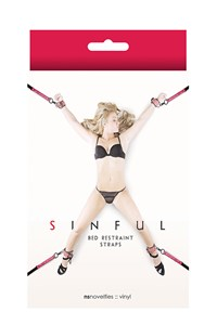 Sinful bed riemen set (Roze)