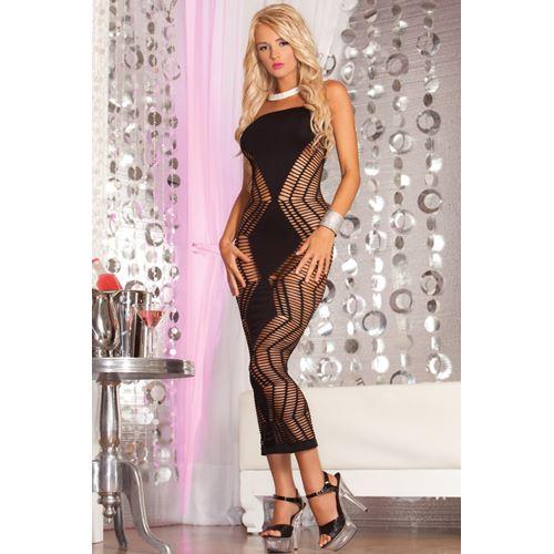 Zig-Zag naadloze lange jurk