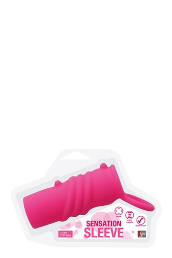 Neon geribbelde sleeve (Roze)