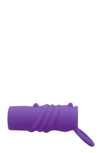 Neon geribbelde sleeve (Paars)