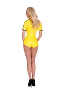Datex bodysuit met rits (geel)