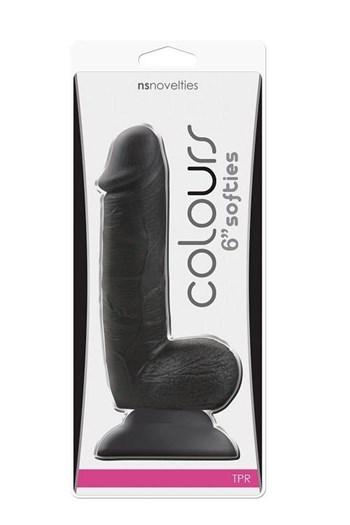 Softies 15 cm dildo (Zwart)